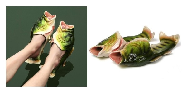 Novelty Bass Fish Slippers $10 Shipped @ eBay