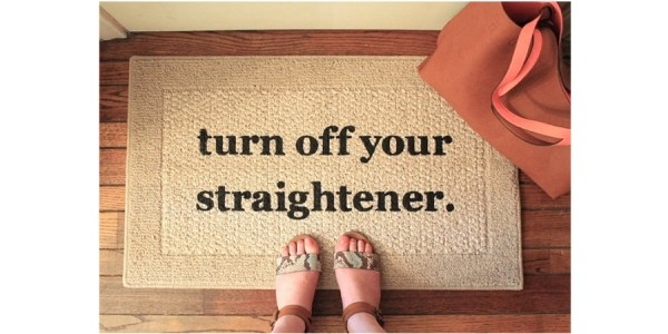 Turn Off Your Straightener Door Mat $11 + Free Shipping @ Amazon