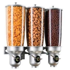 Triple Wall Mounted Dry Food Dispenser $33