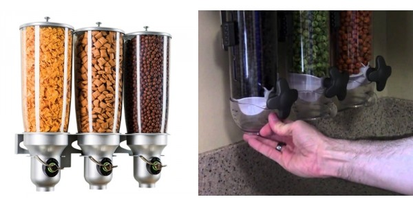Triple Wall Mounted Dry Food Dispenser $33 @ Overstock