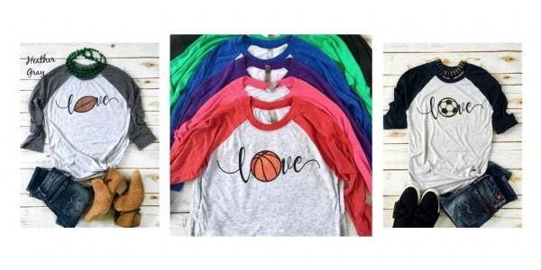 Love Sports Raglans Just $15.99 (reg. $30) @ Jane