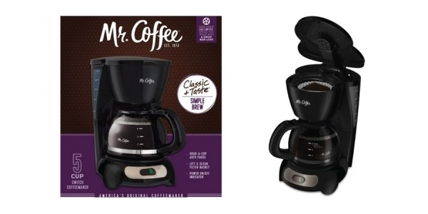Mr. Coffee 5-Cup Coffeemaker Just $5 @ Walmart