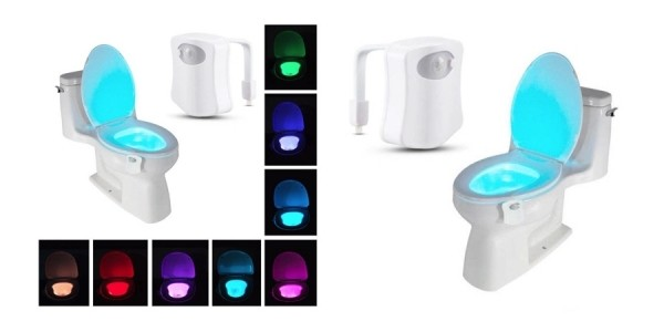 8-Color LED Motion Sensing Automatic Toilet Bowl Night Light $6 Shipped @ eBay
