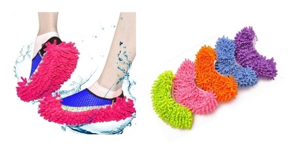 Multi-Function Chenille Washable Dust Floor Mop Slippers Just $2 Shipped @ eBay
