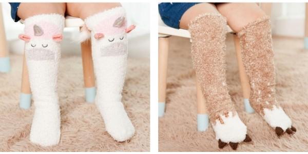 Unicorn, Bears, Monster Claws & More Toddler Non Slip Knee High Socks $3 + Free Shipping @ eBay