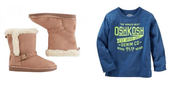 OshKosh Doorbuster Sale = Pants $5, Tops $4 + BOGO Free Shoes + Extra 20% Off @ OshKosh
