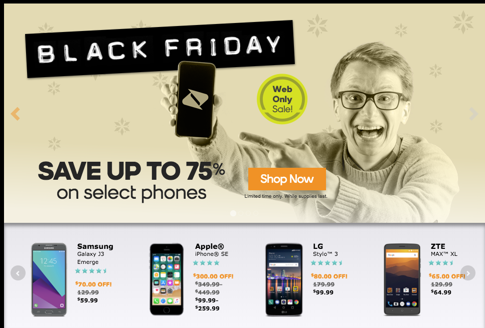 Mobile deals black friday 2018