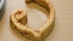 DIY Cinnamon Roll Hearts