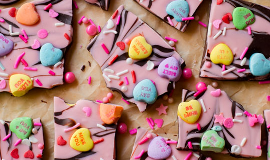DIY Sweetheart Bark