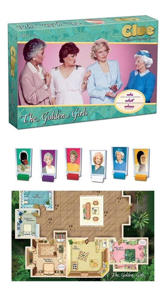 the golden girls clue board game w free shipping barnes noble. Black Bedroom Furniture Sets. Home Design Ideas