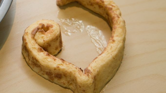 Valentine Heart-Shaped Cinnamon Rolls How-To (With Pictures) - Coil your dough