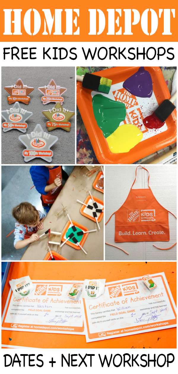 Home Depot Kids Workshop Schedule 2019