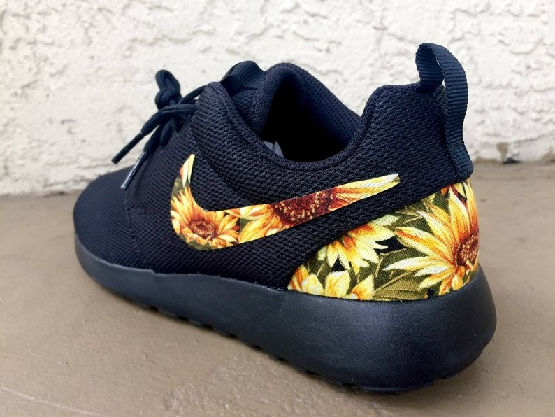 Check Out These Custom Sunflower Nike Sneakers