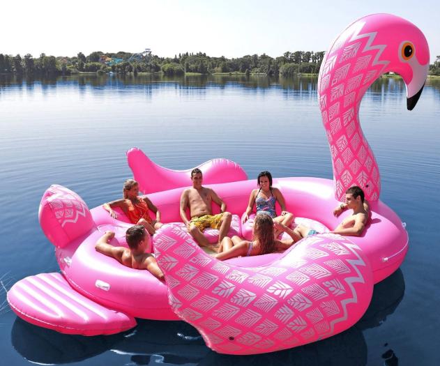 Gigantic Peacock Island Float $180 (was $250) @ Amazon