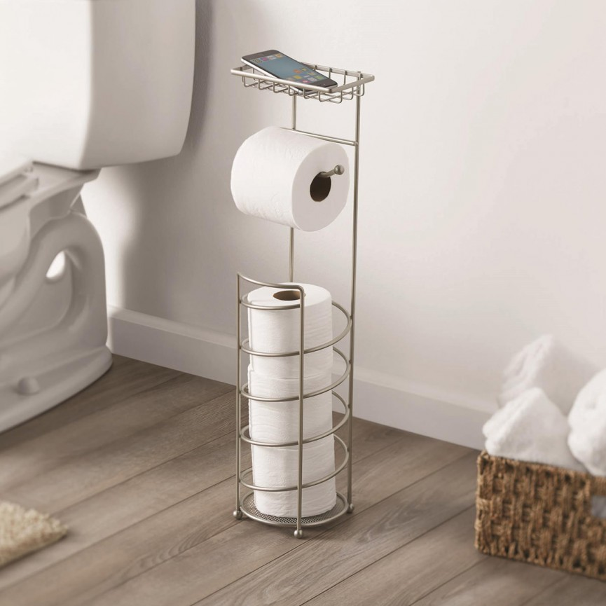 Toilet Roll Stand With Phone Holder $12.69 @ Walmart