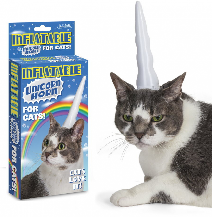 Inflatable Unicorn Horn for Cats $3.99 @ eBay