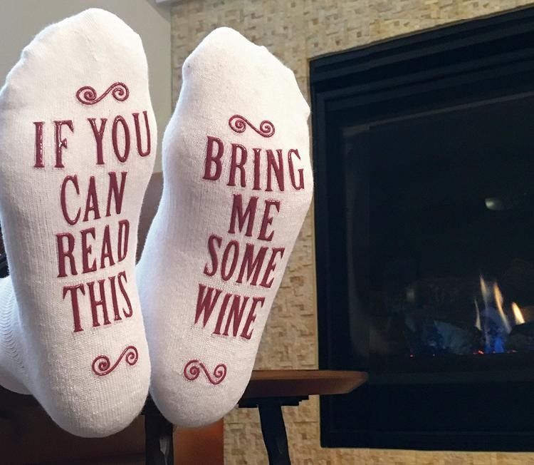 We Love These Wine Socks That Say