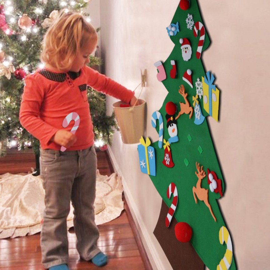 Felt Christmas Trees Are Such A Fun Christmas Activity for Kids