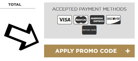 Paste your Michael Kors promo code and hit \